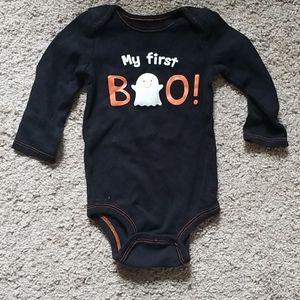 Mu first boo onesie
